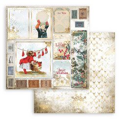 Stamperia paperi Romantic Christmas -  Cards 12x12 SBB828