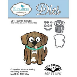 Elizabeth Craft Designs Buster the Dog -stanssisetti