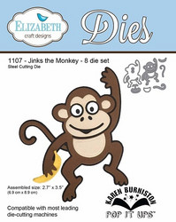 Elizabeth Craft Designs Jinks the Monkey -stanssisetti