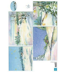 Marianne Design Winter Background -korttikuvat