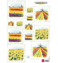 Marianne Design Bulb fields windmills -korttikuvat