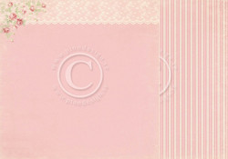Pion Design Paris Flea Market skräppipaperi Pink Lace