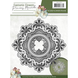 Precious Marieke Fantastic Flowers stanssi Round Flowers Frame