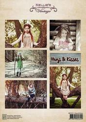 Nellie's Vintage korttikuvat Hugs and Kisses