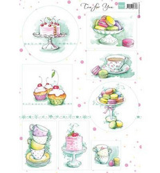 Marianne Design korttikuvat Tea For You 2