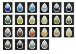Memento DewDrop -mustetyyny: siniset, vihreät, ruskeat ja harmaat