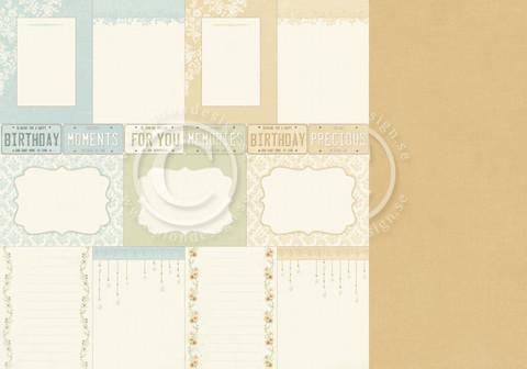 Pion Design The Songbird's Secret skräppipaperi Memory Notes