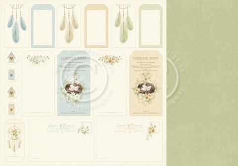Pion Design The Songbird's Secret skräppipaperi Tags