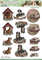 Amy Design valmiiksi leikatut 3D-kuvat Animal Medley Dogs