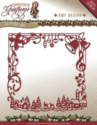 Amy Design Christmas Greetings stanssi Christmas Greetings Frame