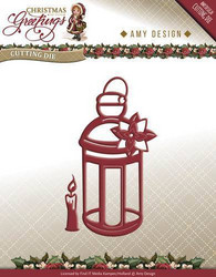 Amy Design Christmas Greetings stanssisetti Lantern, lyhty