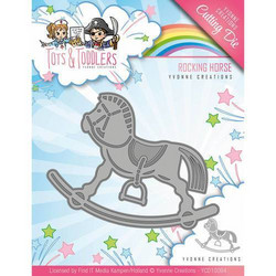 Yvonne Creations Tots and Toddlers -stanssi Rocking Horse, keinuhevonen