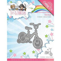 Yvonne Creations Tots and Toddlers -stanssi Tricycle, kolmipyörä
