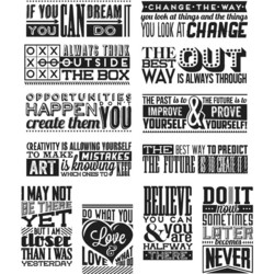 Stampers Anonymous, Tim Holtz leimasinsetti 'Mini Motivation'