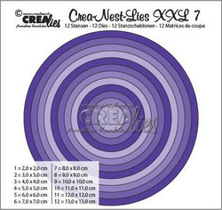 Crea-Nest-Lies XXL stanssisetti numero 7 ympyrät
