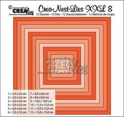 Crea-Nest-Lies stanssisetti numero 8 XXL neliö