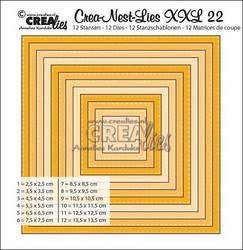 Crealies XXL 22 -stanssisetti tikkineliö