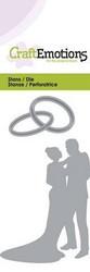 CraftEmotions Wedding Couple -stanssisetti, hääpari