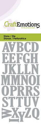 CraftEmotions Uppercase Alphabet -stanssi, kirjaimet