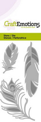 CraftEmotions Feathers -stanssi, sulat