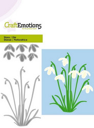 CraftEmotions Snowdrops -stanssi, lumikellot