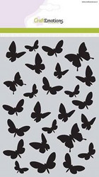 CraftEmotions sapluuna Butterflies