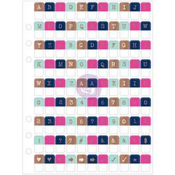 My Prima Planner Clear Alpha Tabs -tarrat, Soft & Pastel