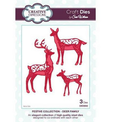 Creative Expressionsin Sue Wilson stanssi Deer Family