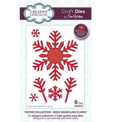 Creative Expressions Bold Snowflake Flurry -stanssisetti