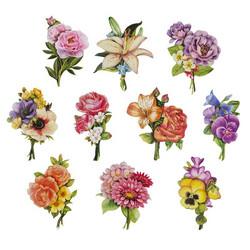 Valmiiksi leikattuja 3D kuvia, Flowers Bouquet