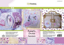 CraftEmotions paperipakkaus Romantic Orchid