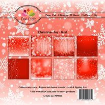 Dixi Craft Christmas Joy, Red -paperipakkaus