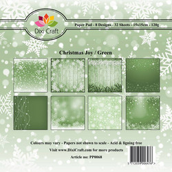 Dixi Craft Christmas Joy, Green -paperipakkaus