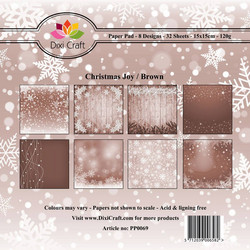 Dixi Craft Christmas Joy, Brown -paperipakkaus