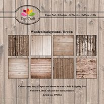 Dixi Craft Wooden Background - Brown -paperipakkaus