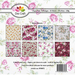 Dixi Craft Retro Flowers -paperipakkaus
