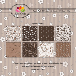 Dixi Craft Sports Background, Brown -paperipakkaus