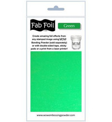Wow! Fabulous Foil -folio, sävy Green