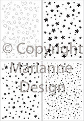 Marianne Design leimasinsetti star and dots