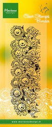 Marianne Design Tiny's border - Sunflowers -leimasin
