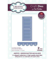 Creative Expressions stanssisetti Window Shutter & Valance