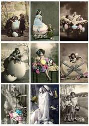 Reprint kuva-arkki Vintage Easter