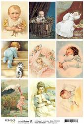 Reprint kuva-arkki Vintage Baby