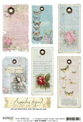 Reprint kuva-arkki Summer Vintage Tags