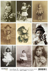 Reprint kuva-arkki Vintage Children