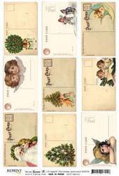 Reprint kuva-arkki Christmas Postcard