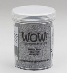 Wow! 160 ml -kohojauhe, sävy Metallic Silver, Ultra High