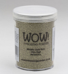 Wow! 160 ml -kohojauhe, sävy Metallic Gold Rich, Ultra High