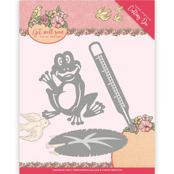 Yvonne Creations Get Well Soon -stanssi Get Well Frog