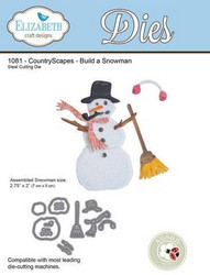 Elizabeth Craft Designs Build a Snowman -stanssisetti